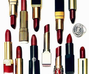 lipstick, red, and fashion image