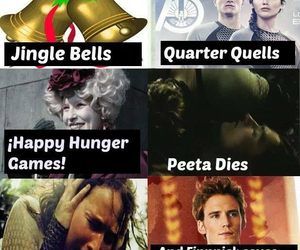 christmas, jingle bells, and catching fire image