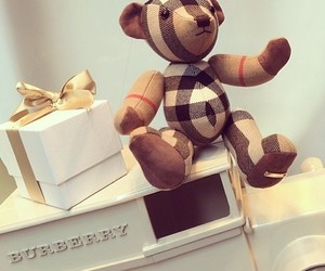 Burberry, gift, and bear image