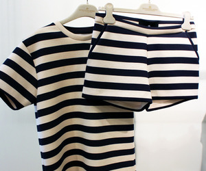 fashion, stripes, and outfit image