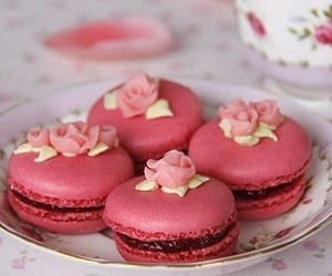 macaroons pink delicius image