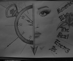 clock and catching fire image