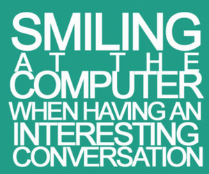 computer, smile, and text image