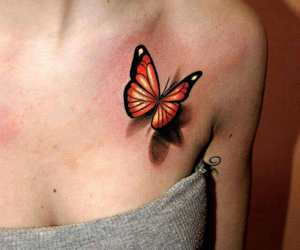 3d, butterfly, and skin image
