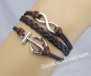hipster, jewelry, and leatherbracelet image
