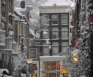 amsterdam, street, and winter image