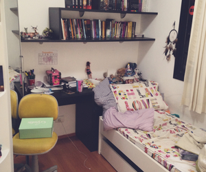bed, teenager, and bedroom image