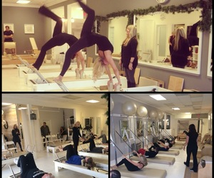 pilates, happy holidays, and open house image
