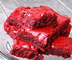 food, cake, and red image