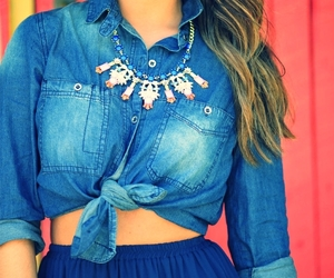 girl, necklace, and outfit image