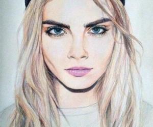 drawing, cara delevingne, and model image