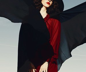 beautiful, black, and red image