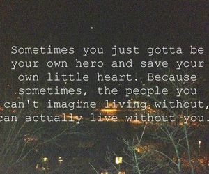 quote, hero, and heart image