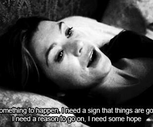 hope, quote, and grey's anatomy image