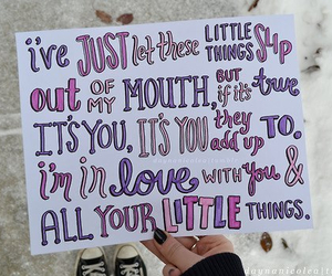 one direction, little things, and Harry Styles image