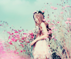 flowers, pink, and ulzzang image