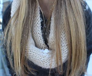 winter, snow, and hair image
