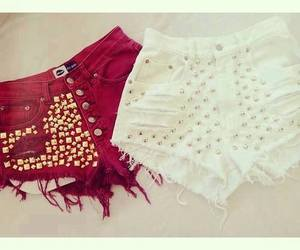 shorts, white, and red image