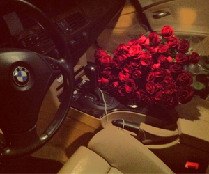 bmw, rose, and car image