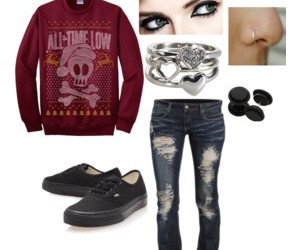 all time low, eyes, and Polyvore image