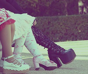 gothic lolita, lolita, and shoes image