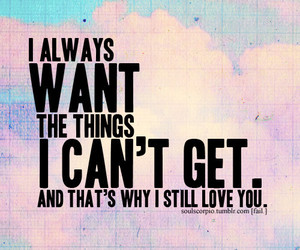 love, quote, and want image