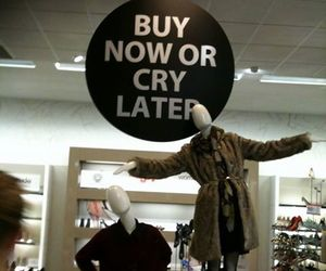 shopping, buy, and cry image
