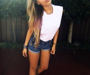 girl, blonde, and shorts image