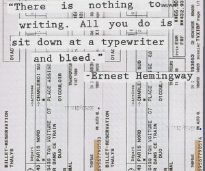 ernest hemingway, quote, and typewriter image