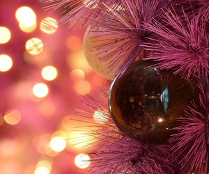 ball, decorations, and pink image