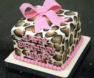 cake and leopard print image