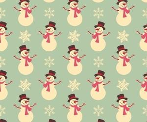 christmas, snowman, and wallpaper image