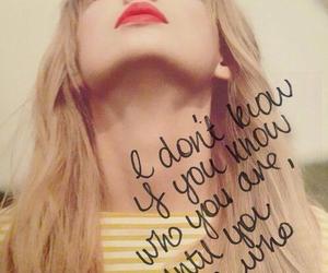 Taylor Swift, quote, and Lyrics image