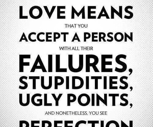 love, quote, and perfection image