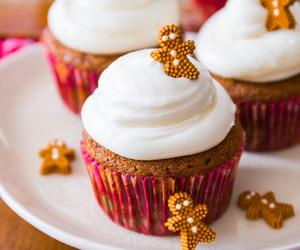 cupcake, food, and christmas image