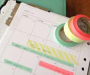 organization and washi tape image