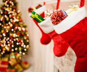 christmas tree, happiness, and christmas boot image