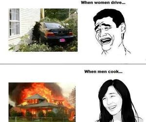 funny, cook, and drive image