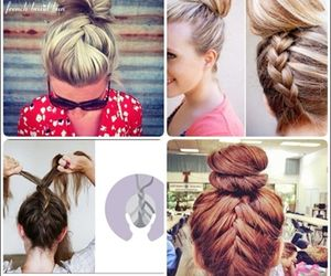 beautiful, hairstyle, and plait image