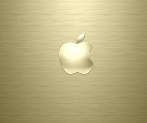 apple, wallpaper, and gold image