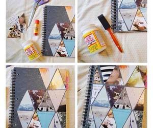 diy, notebook, and school image