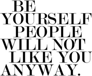 quote, text, and be yourself image