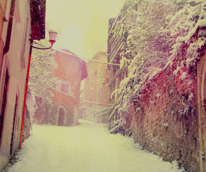 christmas, italy, and snow image