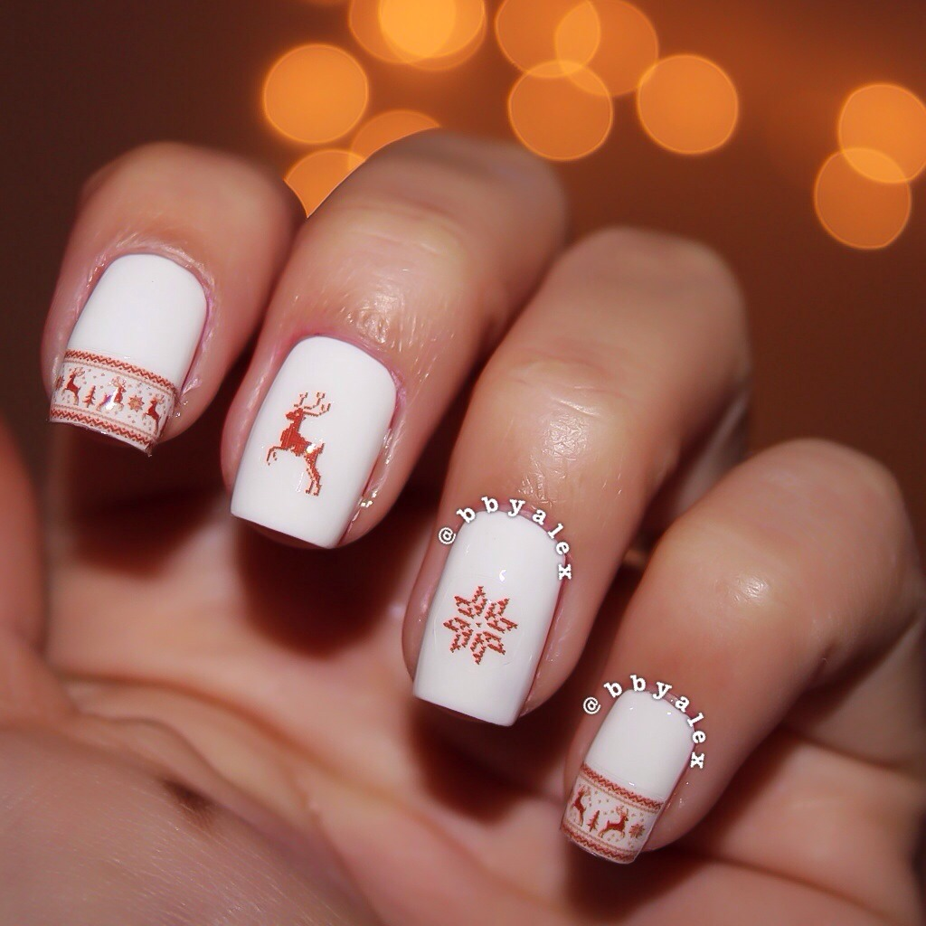 ugly christmas sweater nails via tumblr on we heart it
