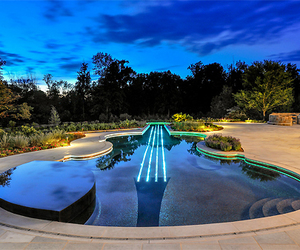 pool, luxury, and guitar image