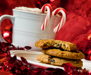 christmas, red, and Cookies image