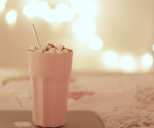 marshmallow, chocolate, and pink image