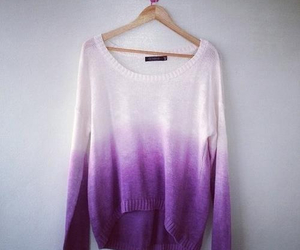 purple, sweater, and white image