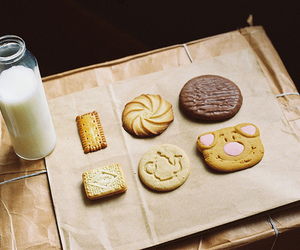 milk, Cookies, and food image