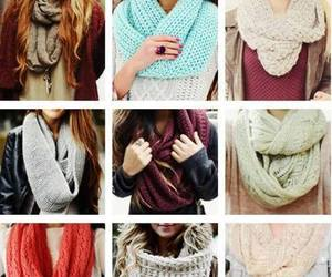 scarf, fashion, and winter image
